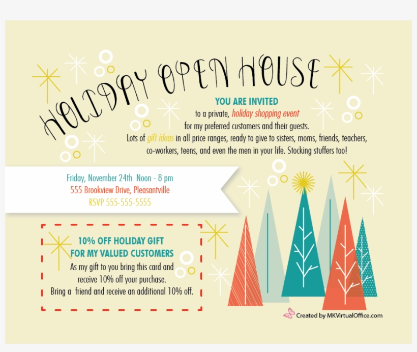 Image Result For Ideas For A Mary Kay Fall Open House - Holiday Office Open House Invitation, transparent png #4807930