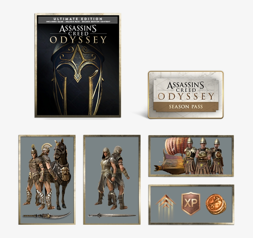 Assassin's Creed Odyssey Ultimate Edition - Assassins Creed Odyssey Ultimate Edition Kronos Pack, transparent png #4808864