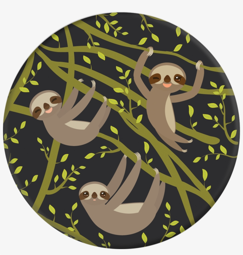 Wholesale Cell Phone Accessory Popsockets - Popsockets Grip And Cell Phone Stand-sloths A Lot, transparent png #4811521