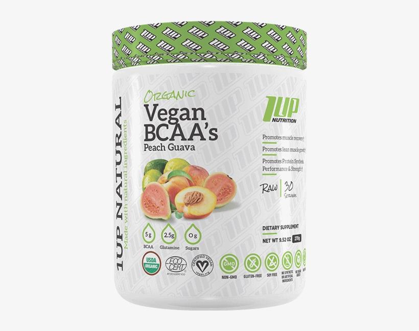 1up Nutrition Natural Vegan Bcaas 30 Serve - 1up Nutrition Vegan Protein, transparent png #4818646