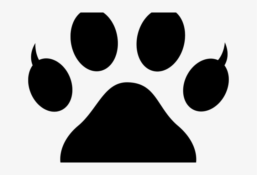 Claw Clipart Cat Claw - Bulldog Paw Print Clip Art, transparent png #4820556