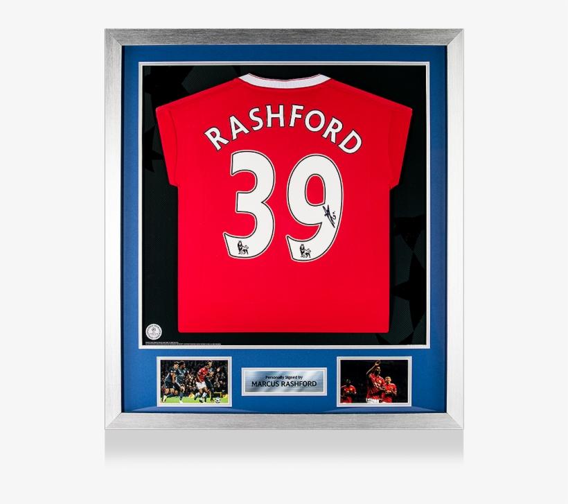 8704025ac0c Pre-framed Marcus Rashford Official Uefa Champions - Manchester United F.c.  Rashford Signed Shirt