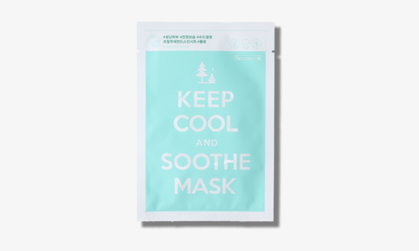 Keep Cool And Soothe Mask - Keep Calm And Carry, transparent png #4830301