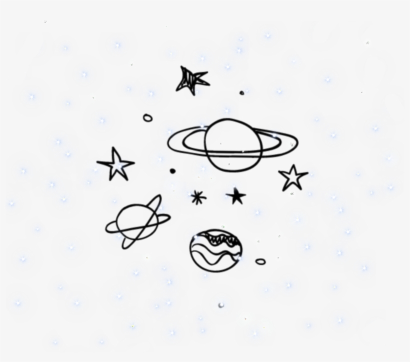 Galaxy Space Background Overlay Aesthetic Icon Tumblr Planety