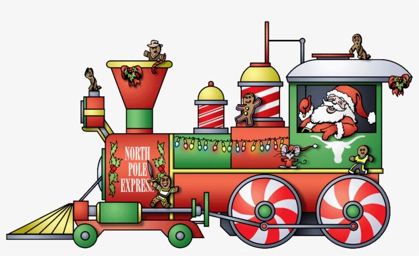 Site Builder Santa Claus Images, Santa Claus Clipart, - Dibujos De Trenes De Navidad, transparent png #4835298