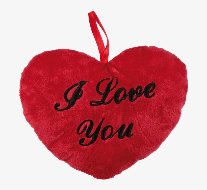 Bigbuy I Love You Heart Cushion (26 Cm) 90 Gr, transparent png #4835781