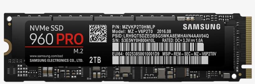 Samsung 960 Evo Nvme Ssd - Samsung 960 Pro M 2, transparent png #4841379