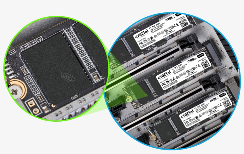With Thousands Of Hours Of Micron Pre Release Validation, - Crucial P1 3d Nand Nvme Pcie M.2 Ssd, transparent png #4842086