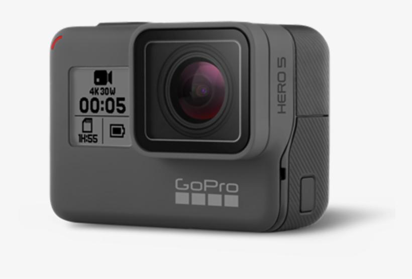 Gopro Hero 5 Black Png Clip Art Black And White Stock - Gopro Hero5 Black 4k Action Camera, transparent png #4844015