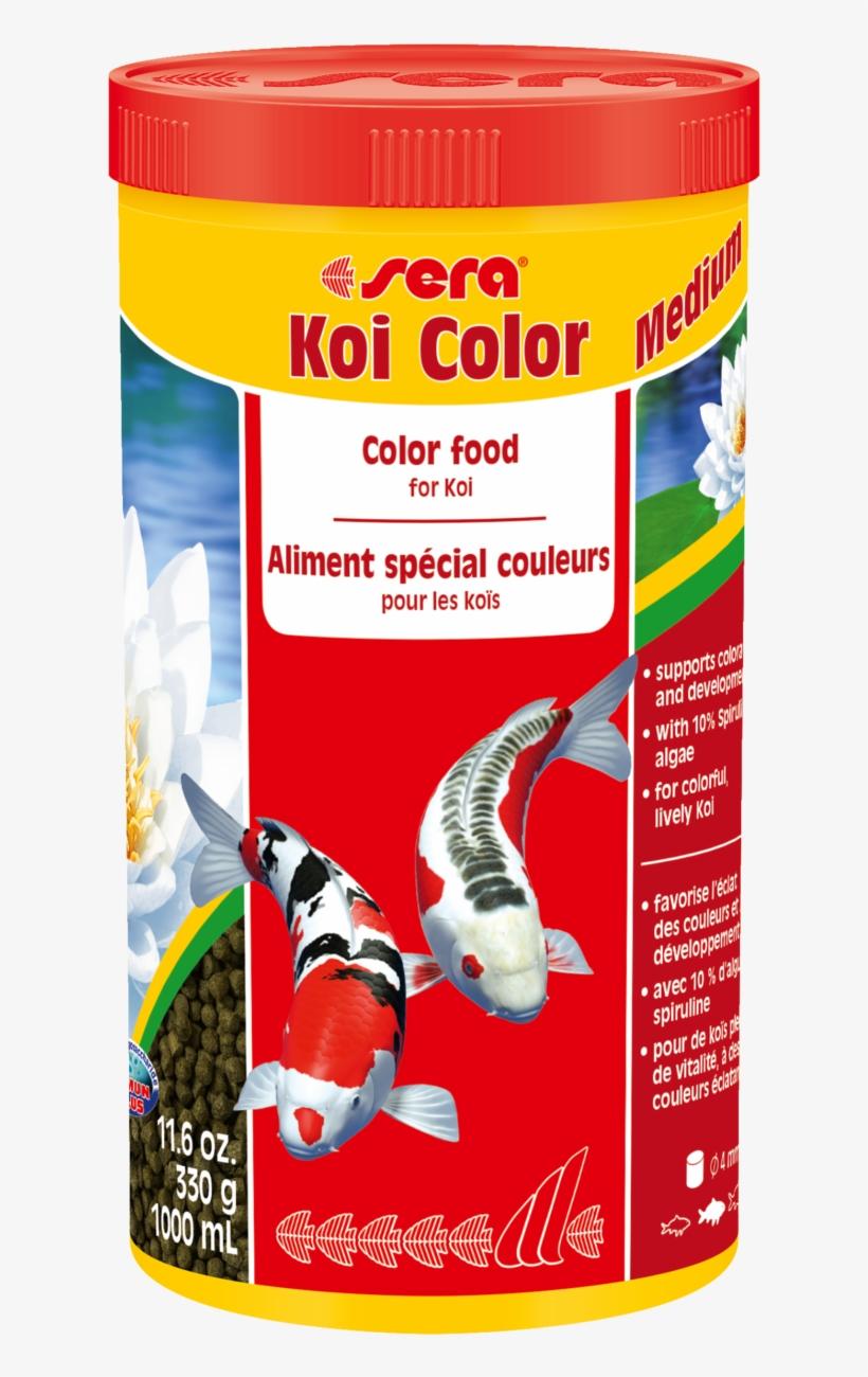 07021 Int Sera Koi Color Medium 1000 Ml Top - Sera Koi Colour, Medium, 1000 Ml, transparent png #4844338