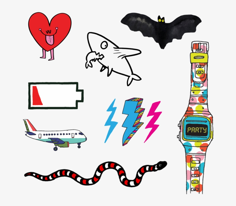 Temporary Tattoos Set - Tattly Temporary Tattoos Kids Mix, 1 Ounce, transparent png #4845533
