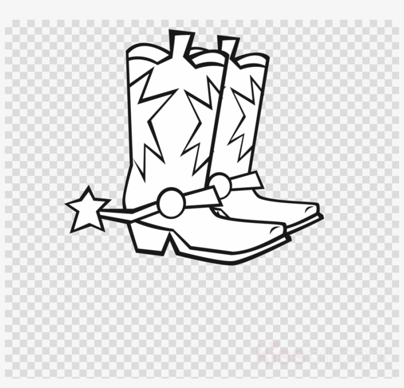 Outline Of Cowboy Boots, transparent png #4849217