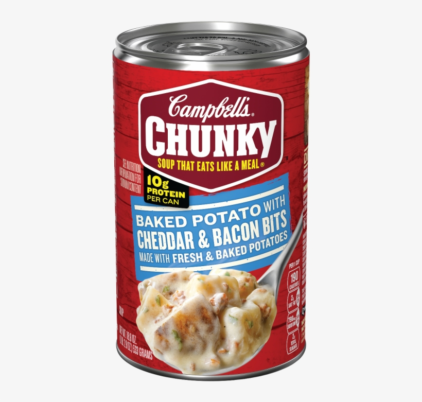 Campbell's Chunky™ Baked Potato With Cheddar & Bacon - Campbell's Chunky Chicken Noodle Soup, transparent png #4851950