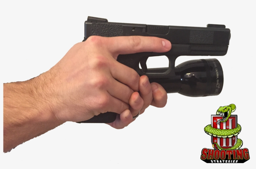 Hand Holding Flashlight - Airsoft Gun, transparent png #4868051