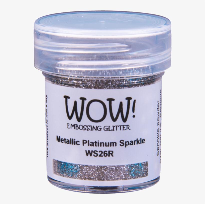 Metallic Platinum Sparkle - Wow Embossing Powder Metallic Gold Sparkle, transparent png #4897874