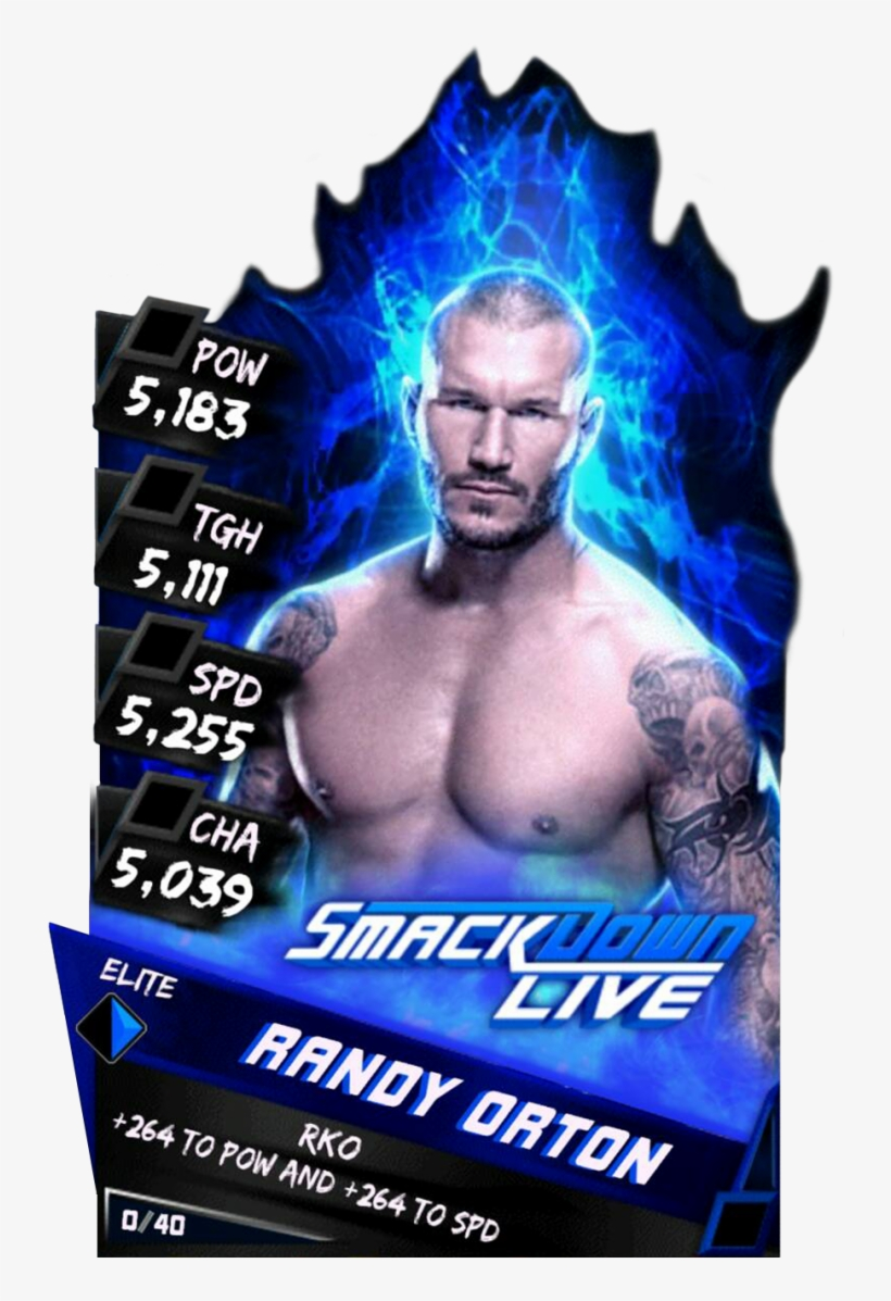 Supercard Randyorton S3 Elite Smackdown 9620 - Nikki Bella Wwe Supercard, transparent png #491728