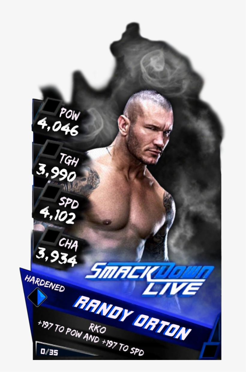 Supercard Randyorton S3 Hardened Smackdown 9544 - Wwe Supercard Randy Orton Hardened, transparent png #491824