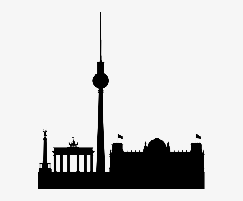 Berlin Skyline Black Simple Clip Art - Berlin Clipart, transparent png #492437