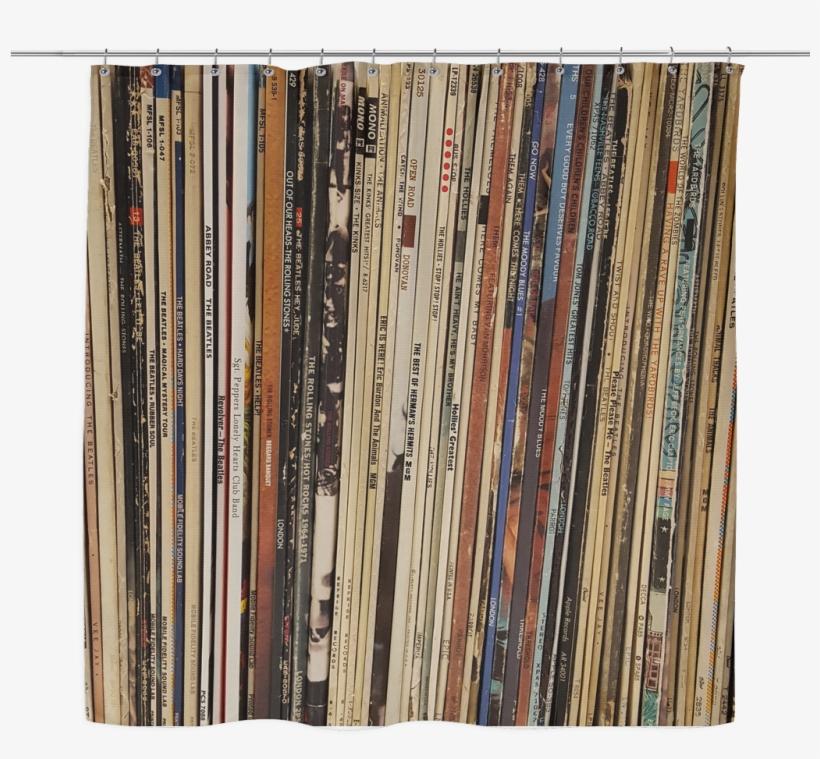Retro Shower Curtain Vinyl Record Albums British Transparent Png 492477