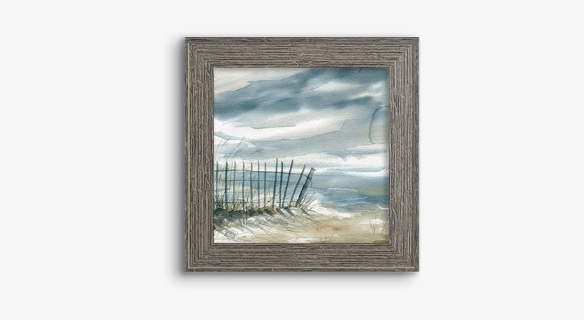 Coastal Watercolor ~ Fence - Framed Poster Prints - Subtle Mist I By Carol Robinson, transparent png #496678