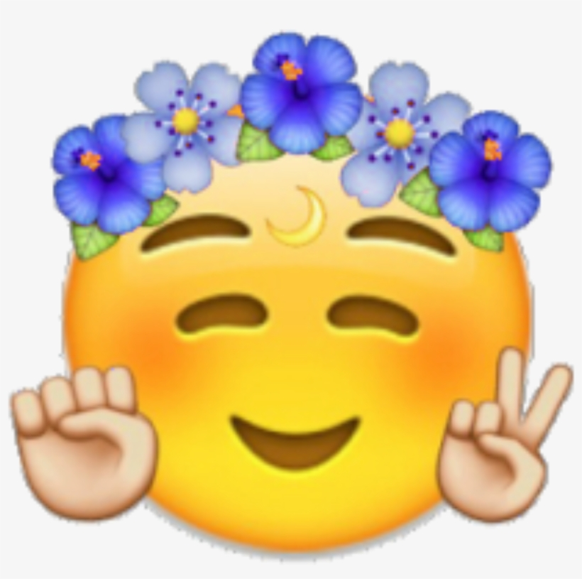 Emoji Emojis Cool Flowercrown Crown - Coachella Emoji - Free ... 430480d29
