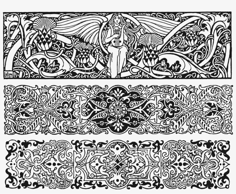 Jpg Download - Public Domain Art Nouveau, transparent png #498762