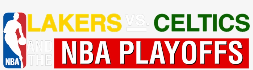 Lakers Versus Celtics And The Nba Playoffs - Nba Logo Perfect Cut Decal 4 X 4, transparent png #498799