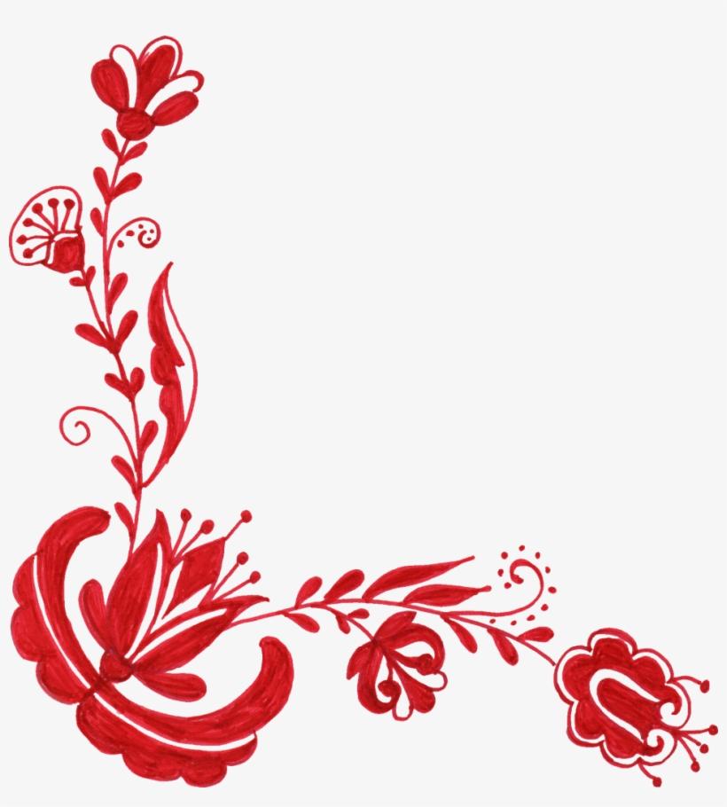 Png File Size - Floral Corner Designs Png, transparent png #498931