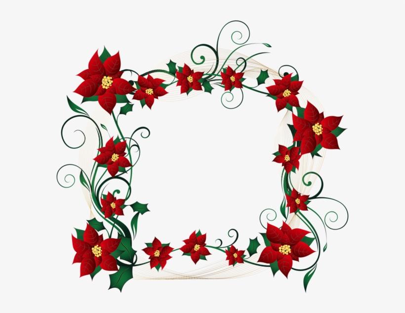 Christmas Decorative Border Transparent Png Clip Art - Clipart Decorative Border Design, transparent png #499346