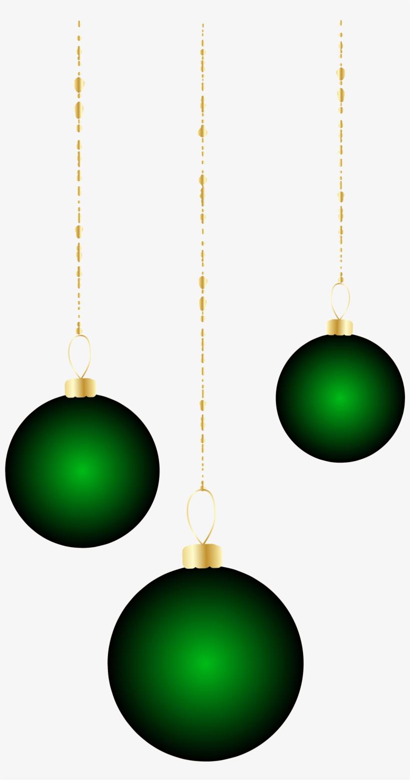 Transparent Christmas Green Ornaments Png Clipart - Christmas Ornament, transparent png #499465