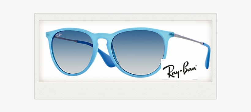 Fake Ray Ban Rb4171 Sunglasses Blue Gunmetal Blue Gradient - Erika Ray Ban Light Blue, transparent png #499518