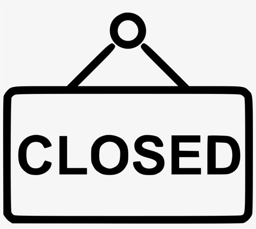 Closed Sign - - Closed Sign Icon Free, transparent png #499586