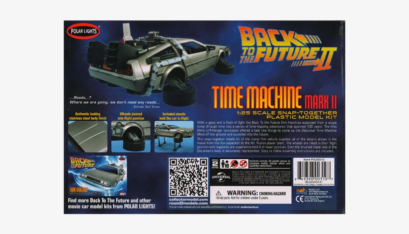 1 Of - Back To The Future Ii Time Machine 1:25 Model Snap, transparent png #4906901