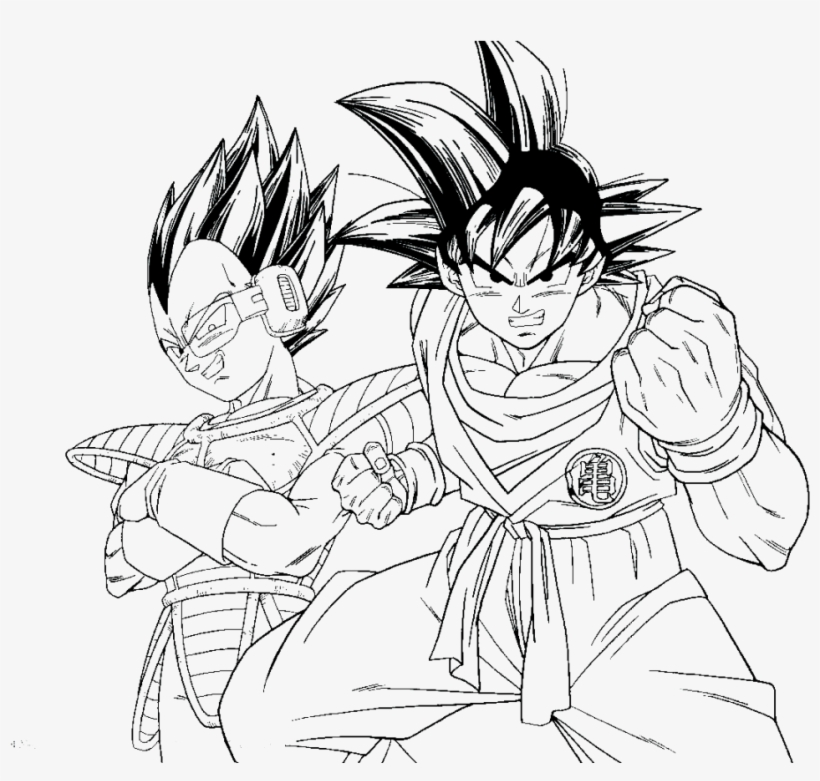 Dragon Ball Z Kai Coloring Pages - Goku And Vegeta Coloring Pages ...