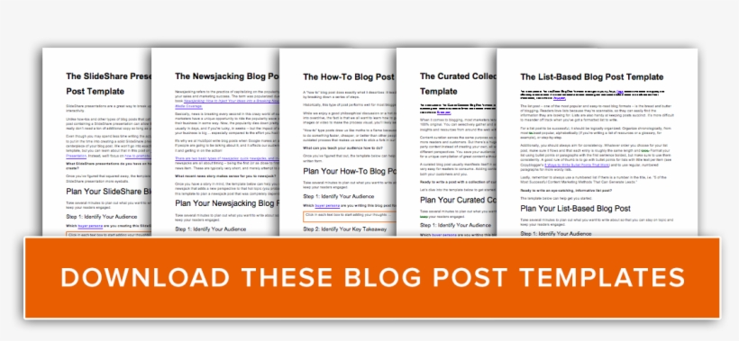 Blog Post Templates Cta 1 - Free Blog Post Templates, transparent png #4908959