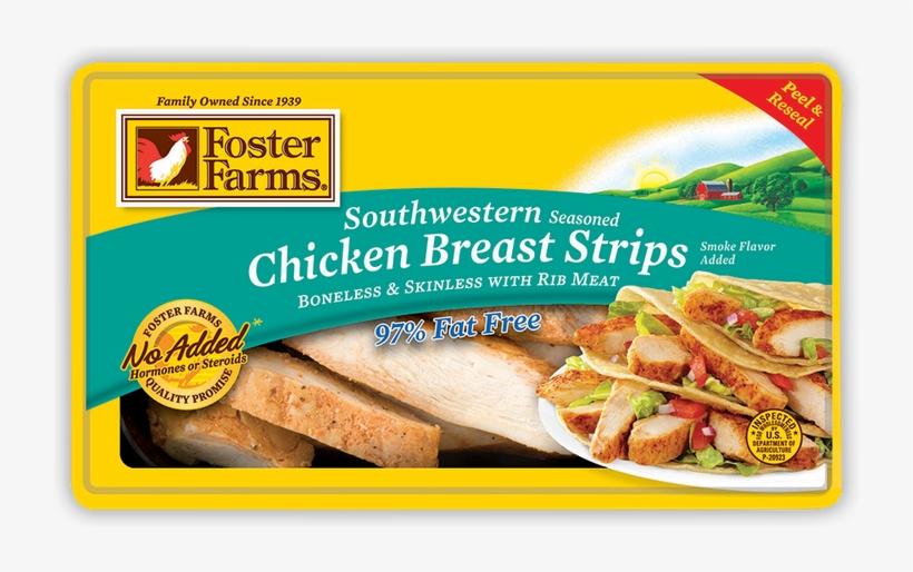 Foster Farms Southwestern Seasoned Chicken Breast Strips, - Foster Farms Southwest Chicken, transparent png #4910093