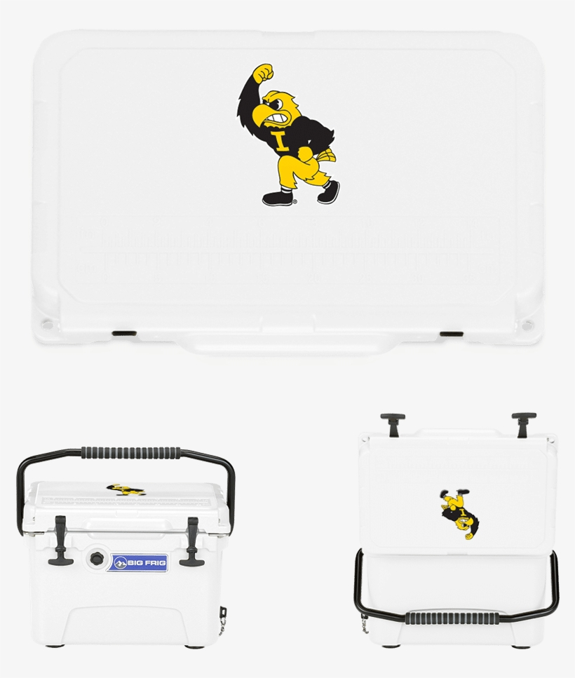 Home Shop Accessories Coolers Big Frig Collegiate Series - Iowa Hawkeyes 16 Oz Pint Glass - Herky, transparent png #4910608