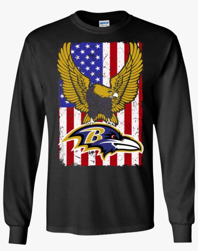 Flag Usa Ravens Logo Team Baltimore Ravens Hoodies - Baltimore Ravens Shirts Flag Usa Ravens Logo Team T-shirts, transparent png #4913485