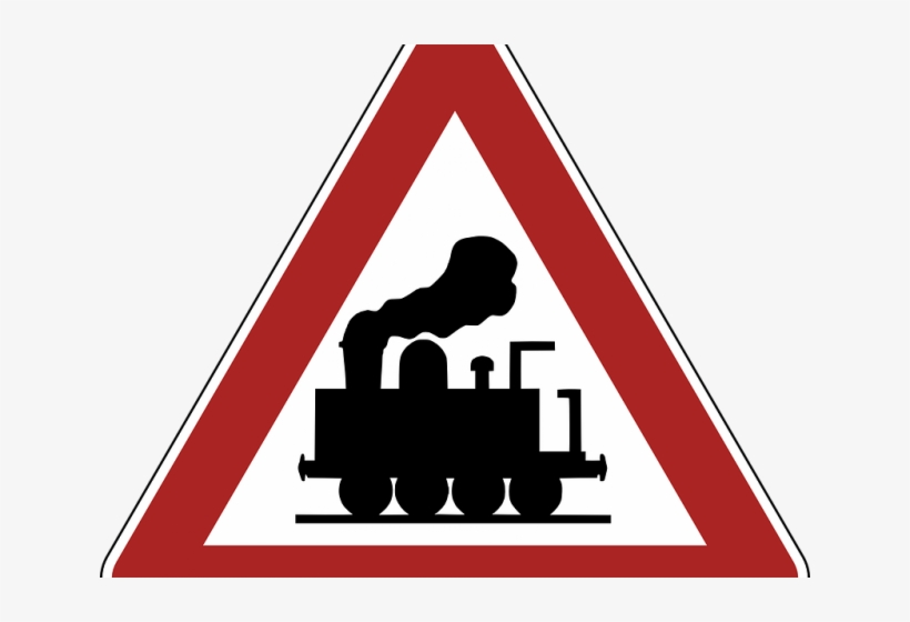 Railroad Tracks Clipart Train Station Sign - Level Crossing, transparent png #4920697