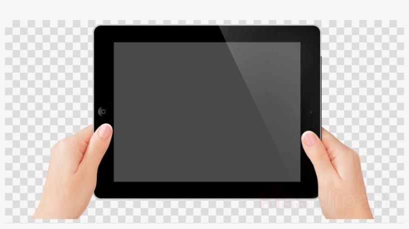 Hand Holding Tablet Png Clipart Ipad 2 Clip Art - Vector Graphics, transparent png #4921758