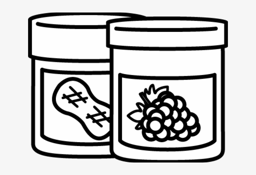 Peanut Butter And Jelly Clipart - Peanut Butter And Jelly Clipart Black And White, transparent png #4922082