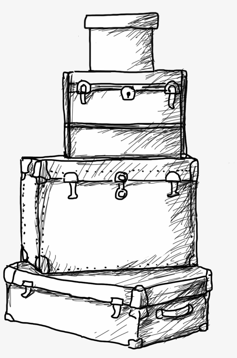 Clip Art Library Download Luggage Drawing , Suitcase Drawing