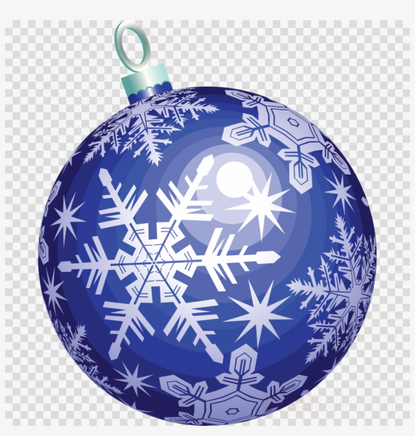 Blue Christmas Ball Png Clipart Christmas Ornament - Transparent Background Christmas Ball Clipart, transparent png #4929089