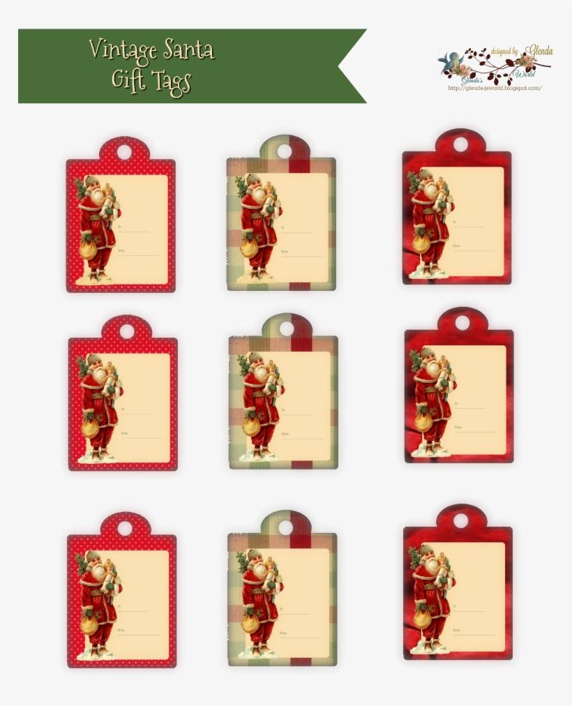 Vintage Santa Tags Glendas World Pp 8001037 Pixels