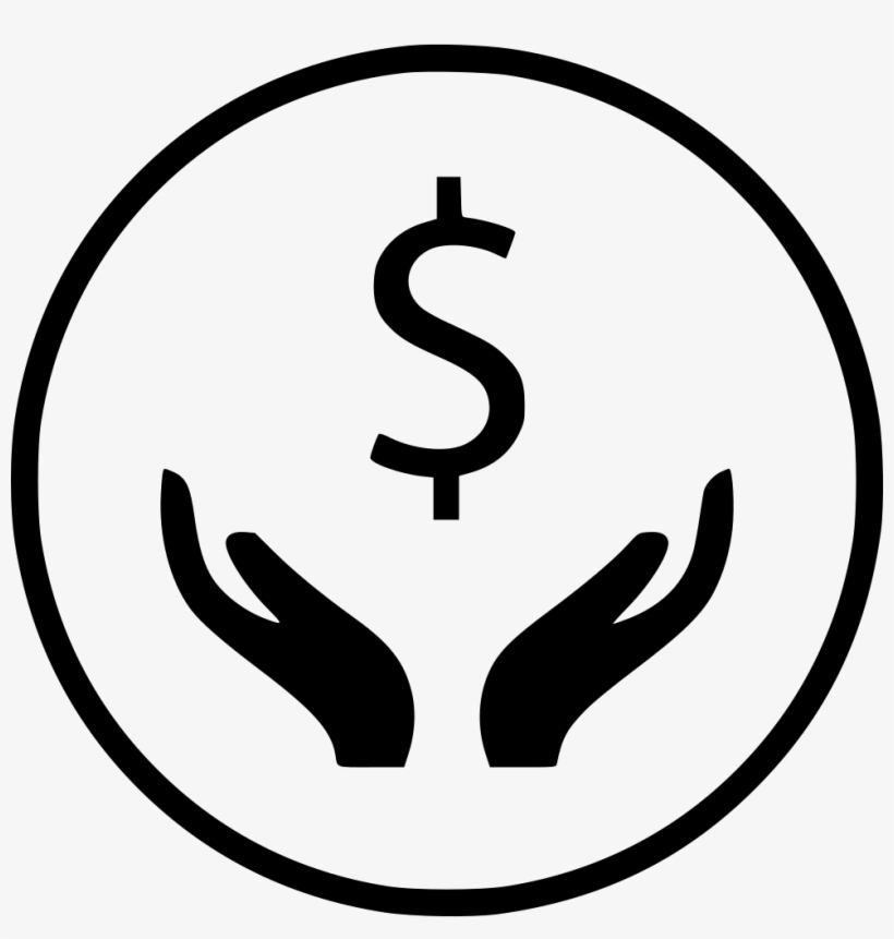 Hands Hand Dollar Sign Wealth Rich Comments - Hand With Dollar Sign, transparent png #4934239