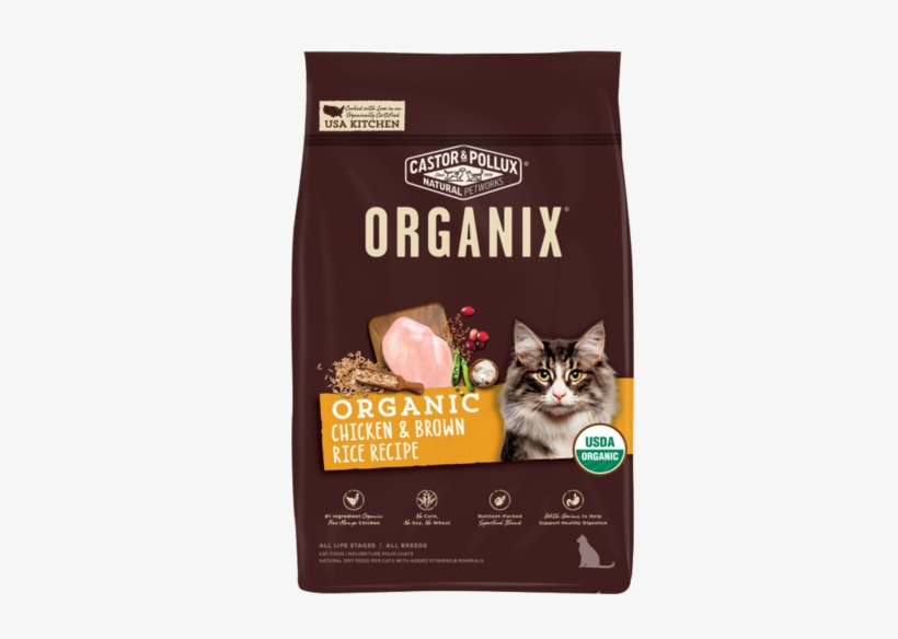 Castor And Pollux Organix Chicken And Brown Rice Dry - Organix Chicken And Brown Rice Cat Food, transparent png #4945296