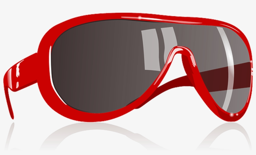 Oculos Oakley Png - Red Sun Glasses Clipart, transparent png #4952465
