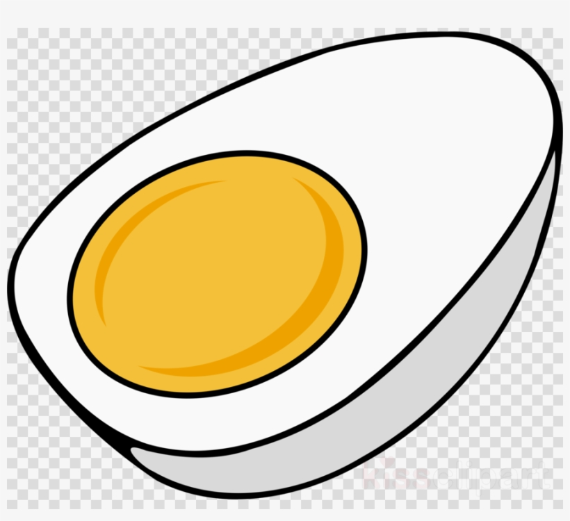 Boiled Egg Coloring Page Clipart Fried Egg Scrambled - Hard Boiled Egg Cartoon, transparent png #4956487