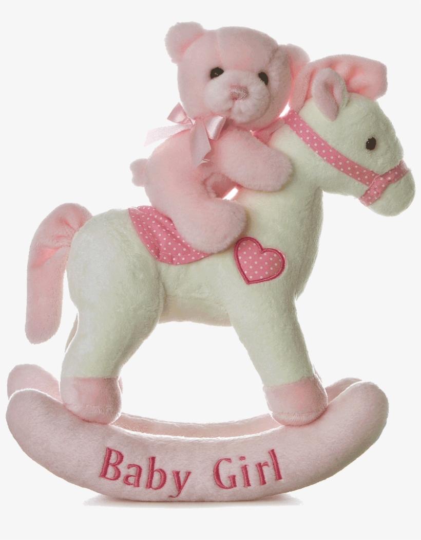 12″ Baby Girl Musical Rocking Horse - Rocking Horse Online Shopping India, transparent png #4957564