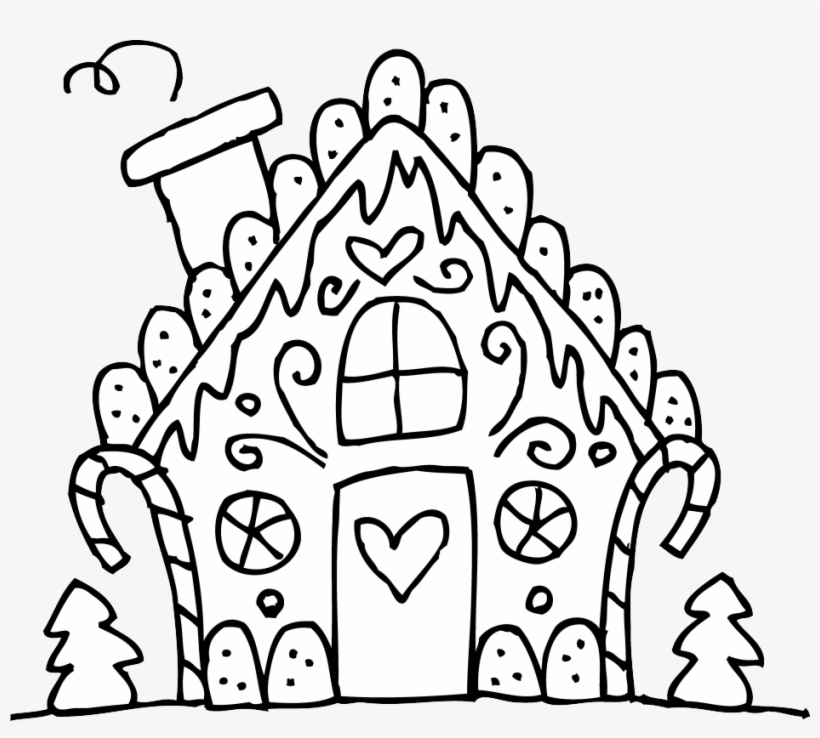 Black And White House Png Photo Christmas Coloring Pages Cute Free Transparent Png Download Pngkey
